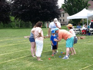 Lessons on bocce ball scoring ........